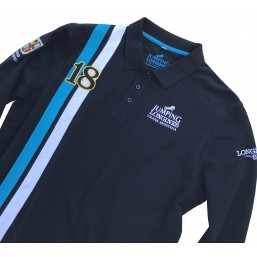 Polo manches longues homme marine