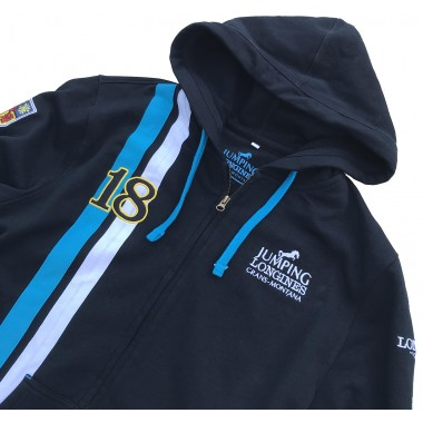 Sweat à capuche zip homme marine